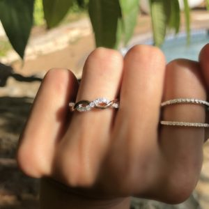 Silver / CZ Infinity style stackable ring  $69-